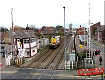 SK8508 : Rail Action at Oakham 03:Crane arriving by Andrew Tatlow