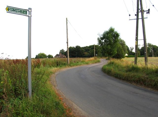 Bromley Lane towards Much Hadham