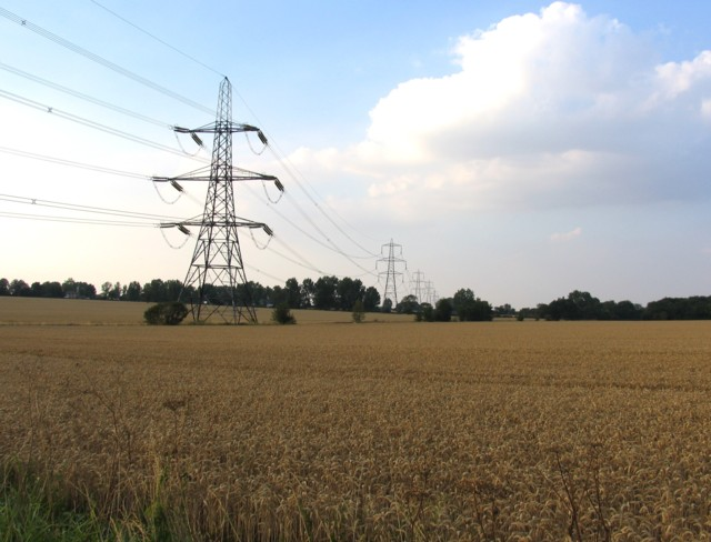 Pylons and fields