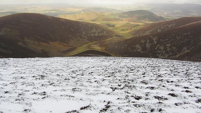 North ridge of Stob Law