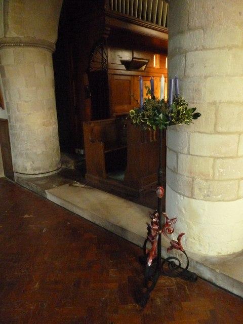 All Saints, Upper Clatford: advent crown