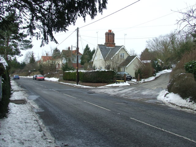 Road junction and cottages