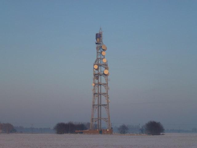 Telecommunication mast at Newton near Wisbech