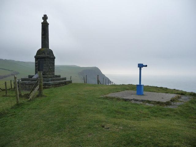 The war memorial, Borth