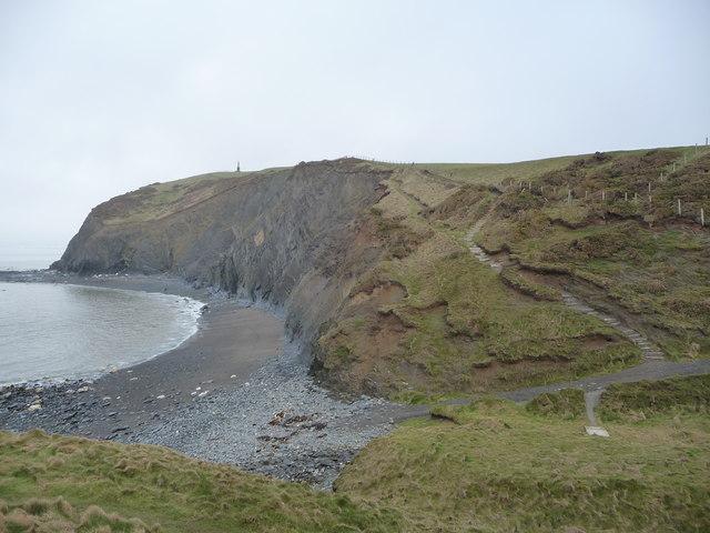 Part of the Ceredigion Coast Path nearing Borth