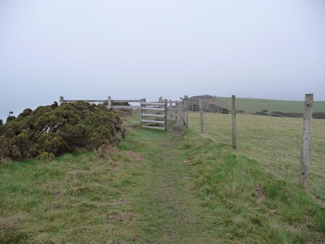 Part of the coast path between Wallog and Borth