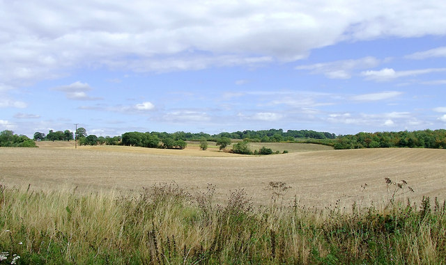 Arable fields east of Norbury, Staffordshire