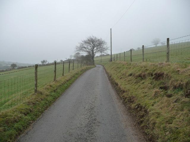 Hillside lane