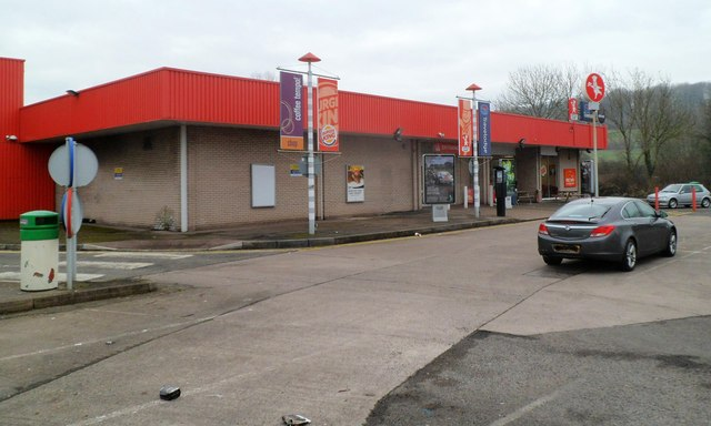 West side of the main building at Raglan Service Station