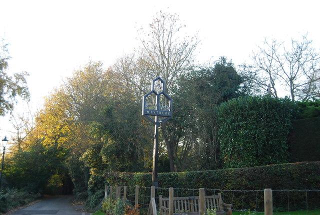 Westbere Village sign