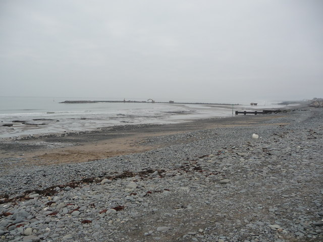 Coastal defence work at Borth
