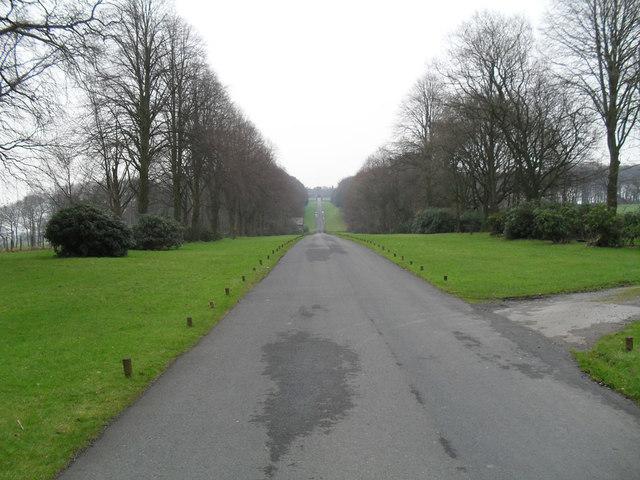 Drive way of Hoghton Tower