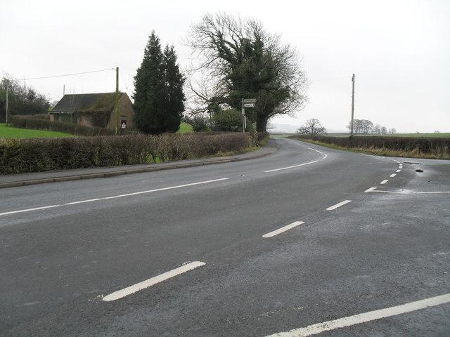 Junction above Lower Hodder Bridge