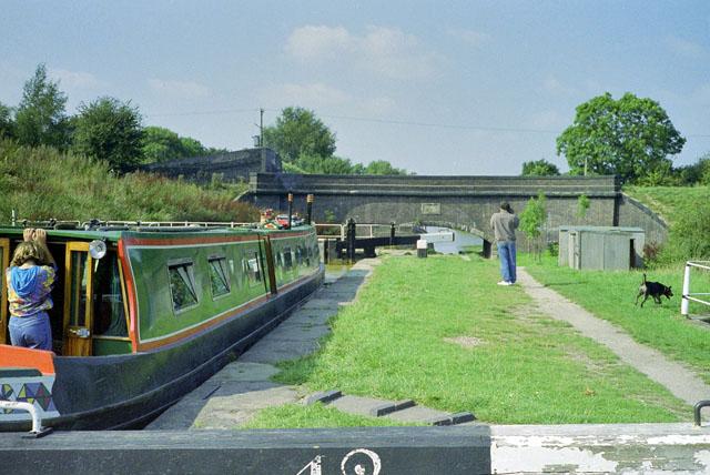 Lock 42, Trent & Mersey Canal, 1990