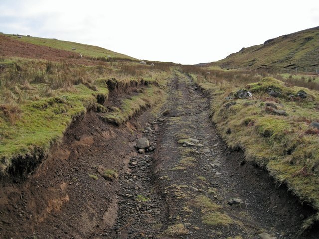 Much eroded track