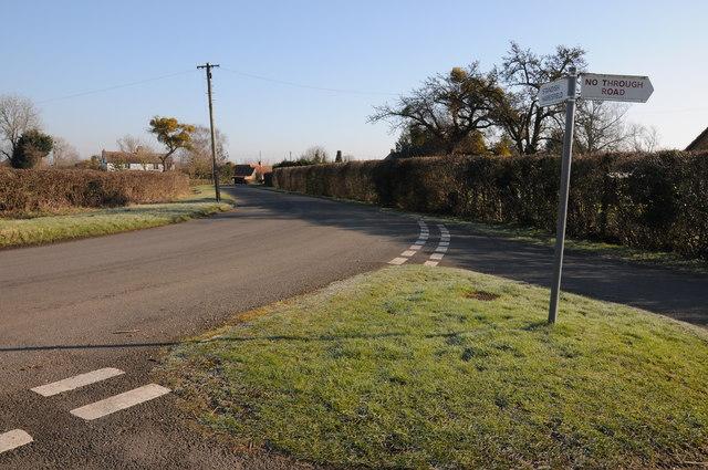 Road junction in Moreton Valence
