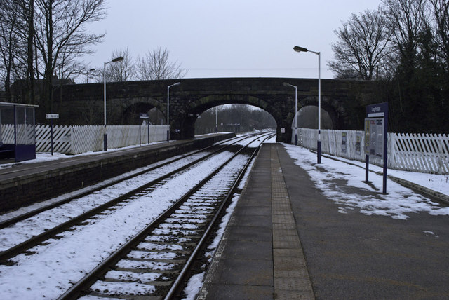 Cold day at Long Preston Station