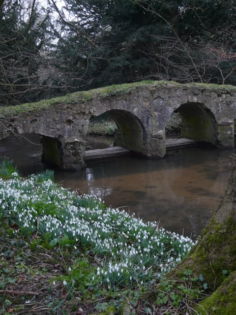 Packhorse bridge in the grounds of Walsingham Abbey, Norfolk