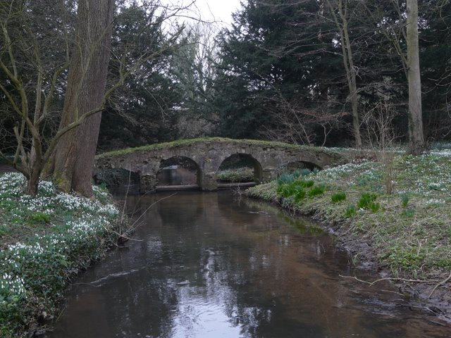 Packhorse bridge in the grounds of Walsingham Abbey, Norfolk