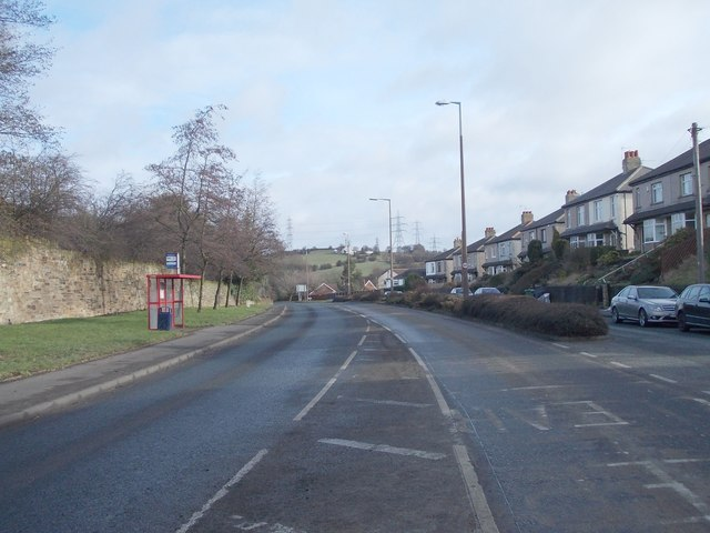 Whitehall Road West - viewed from Hunsworth Lane