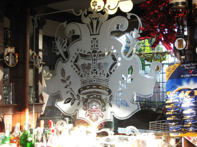 The Rose & Crown (2) - engraved glass, 55 Old Birchills, Walsall