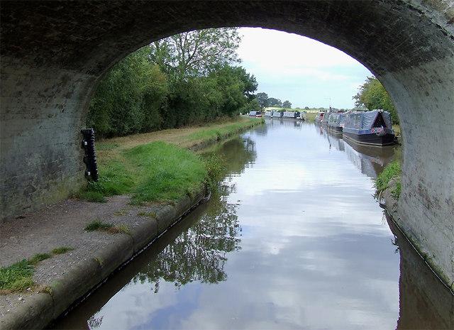 Moorings by Bullock's Bridge near High Offley, Shropshire