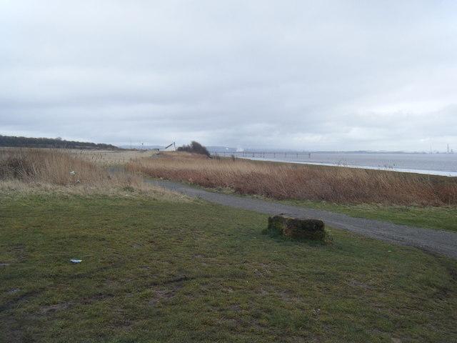 Mersey Way looking towards boat house