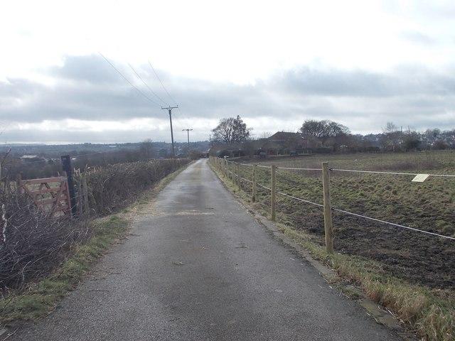 Track to Merchants Fields Farm - Kilroyd Avenue