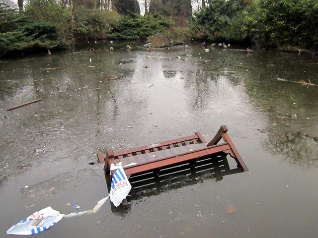 Vandalism in Grosvenor Park, Chester