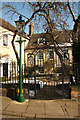 SK9771 : Greestone House gates by Richard Croft