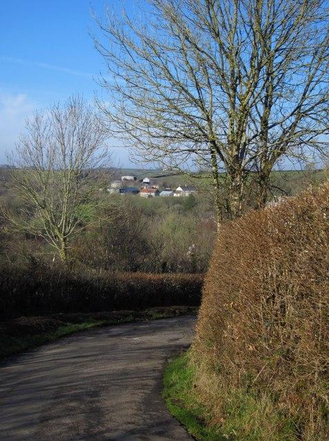 Lane on Broadwood Down