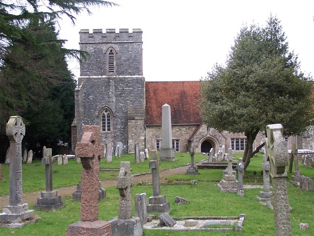 All Saints church and churchyard