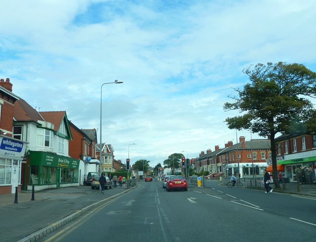 Whitegate Drive, approaching Hornby Road junction