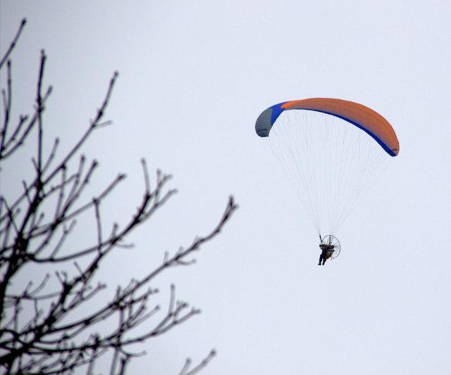 Paraglider over Enfield