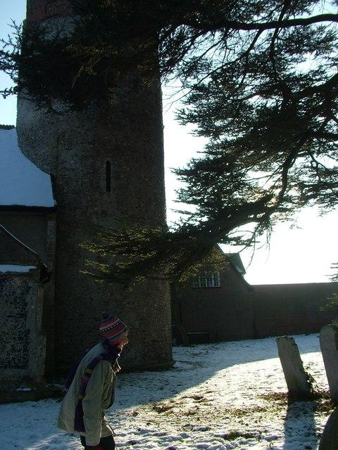 The round tower of Thorington church