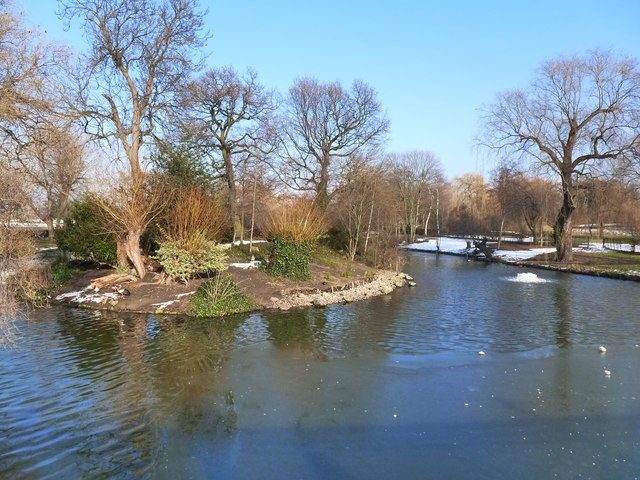 Island in the Boating Lake, Regent's Park, London