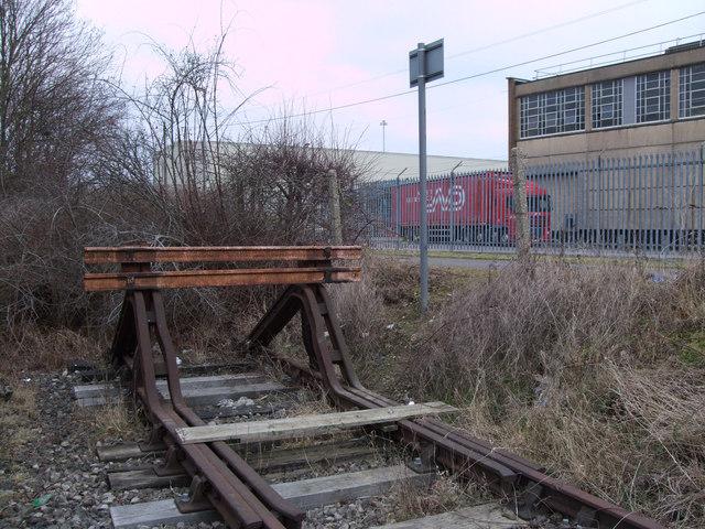 Buffers, disused GWR Highworth branch line, Swindon