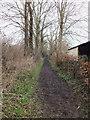 SU1126 : Footpath to the down by Jonathan Kington
