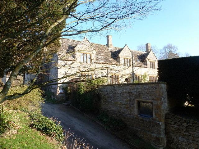 Sandford Orcas: the Manor House from the churchyard