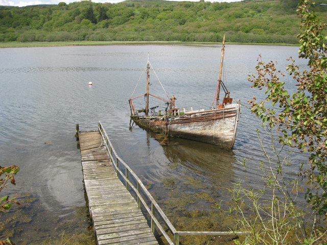Wreck and landing stage