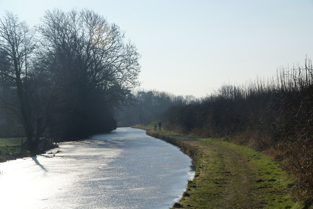 Joggers by the Staffordshire and Worcestershire Canal