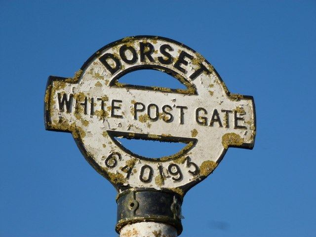 Oborne: detail of White Post Gate signpost