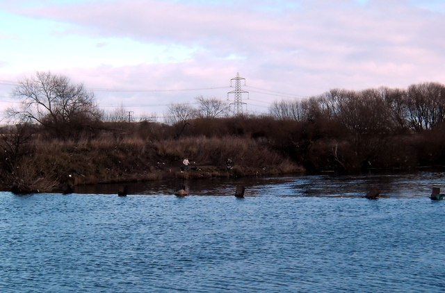 Fishing in the weir pool.