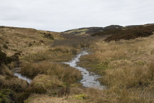 Allt Cnoc na Gainimh and moorland south of Cnoc Dubh, Islay