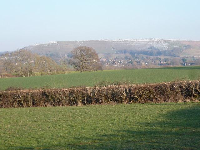 Shillingstone: view towards Hambledon Hill from New Cross