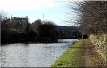 SE5023 : Knottingley canal and A645  road bridge by derek dye