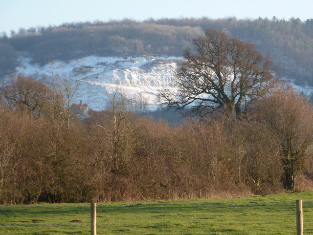 Shillingstone: chalk quarry on Shillingstone Hill