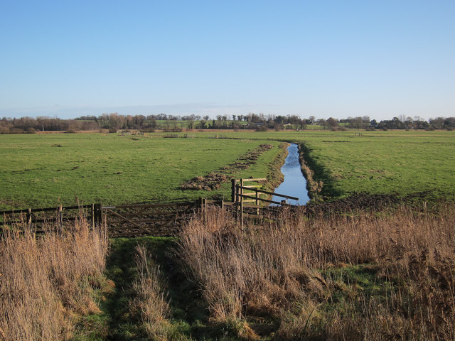 Scraped out ditch, Cantley Marshes