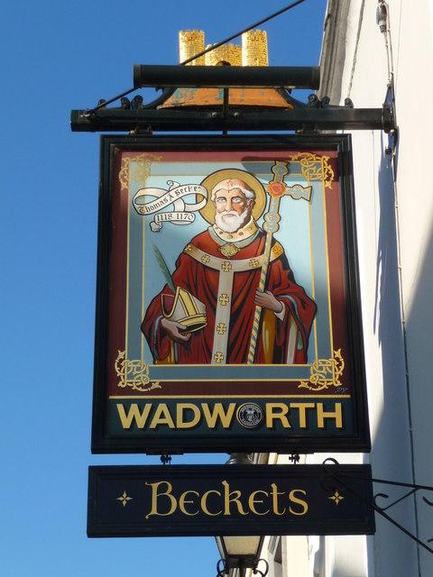 Glastonbury - The Sign Of Beckets Inn