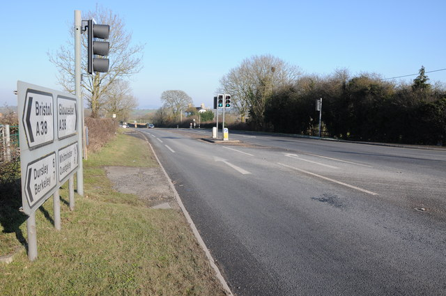 Road junction at Claypits